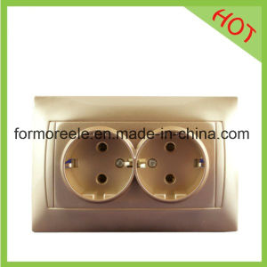 European Double Socket Outlet /Russian Market pictures & photos