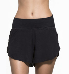 OEM Custom Women Workout Sports Yoga Fitness Running Gym Wear Sweat Shorts pictures & photos