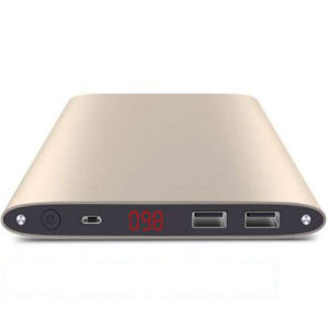 20000mAh 2 USB Slim Power Bank with Flashlight Phone Accessories