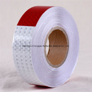 Hot Selling DOT-C2 Honey Comb Type PVC Crystal Lattice Safety Red and White Truck Reflective Tapes pictures & photos