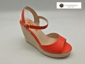 China Women Orange Ankel Strape Cute Wedge Sandals Espadrillesfor ... 7d88a5c86f