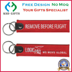 Remove Before Flight Embroidery Keychains pictures & photos