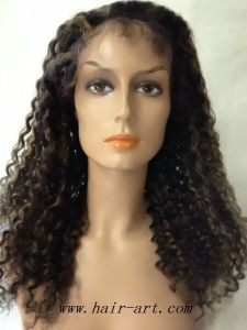 High Quality Human Remy Hair Full Lace Wig for Women