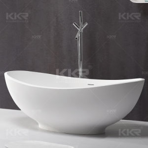 Free Standing Solid Surface Stone Resin Pedestal Bathroom Bathtub pictures & photos