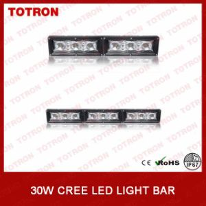 "Single Row 7"" 30W Linkable LED Light Bar with 3 PCS High Power 10W CREE LED Chips"
