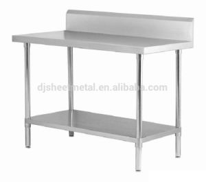 China Good Price Stainless Steel Kitchen Bench With Splashback China Kitchen Table Working Table