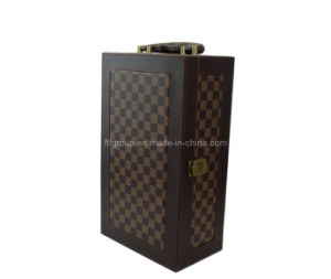 New Style Handmade Stock PU Leather Wine Box (FG8033) pictures & photos