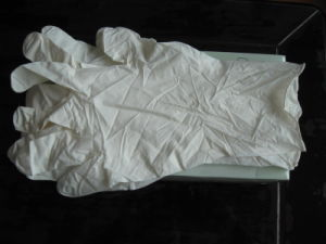 White Color Disposable Nitrlie Gloves 12inch pictures & photos