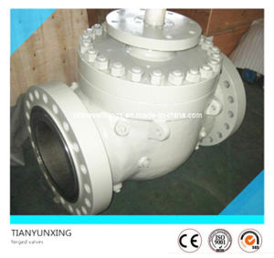 ANSI Full Bore Fb Flanged Trunnion Top Entry Ball Valve pictures & photos