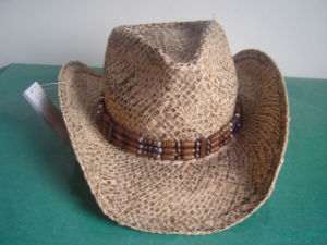 China Painted Raffia Straw Cowboy Hat (S-310) - China Stained Cowboy Straw  Hat e36ad8679d3