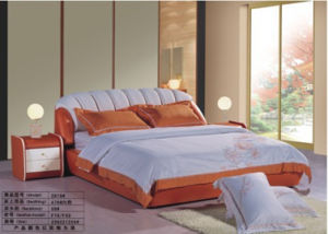 Leather Bed, Sofa Bed, Soft Bed 2919#