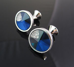 Metal Men′s Diamond Cufflink pictures & photos