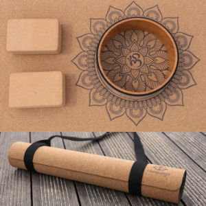 Full Color Fitness Printed Organic Cork Rubber Mandala Yoga Mat