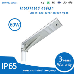 Integrated Outdoor All in One LED Solar Street Light Lamp 3 Years Warranty