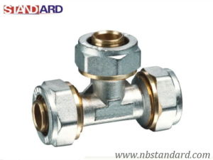 Brass Equal Tee/Brass Compression Fitting for Pex-Al-Pex Pipe/Pex-Al-Pex Pipe/Equal Tee