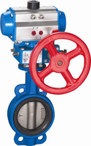 Pneumatic Butterfly Valve with Actuator (HAT-240D) pictures & photos