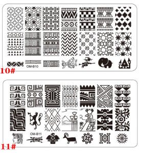 2016 Hot Sale Stainless Steel Nail Art Stamping Stencils pictures & photos