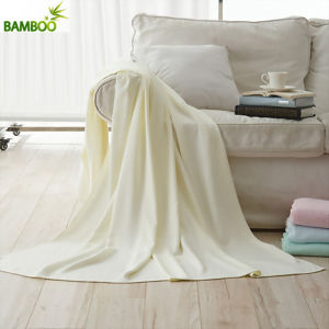 Top Quality Plain Color 100% Organic Cotton Blanket pictures & photos