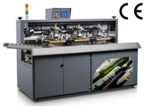 Full Automatic Glass Bottle / Container and Cup Screen Printing Machinery (SZD-104A)