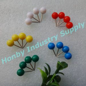 20mm Compelling Decorative Office Supplies Plastic Head Ball Map Pin