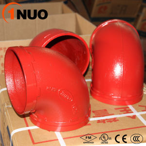 High Pressure 300psi Ductile Iron Pipe Fittings 90 Degree Elbow pictures & photos