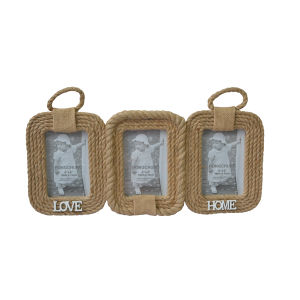 Hemp Rope Collage Photo Frame for Home Decoration pictures & photos