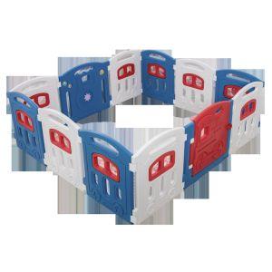 Multicolor, 4 Panel Cloud Castle Foldable Playpen 4-Panel Extension Set by Classy Kiddie
