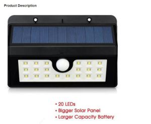 Wall Mounted Waterproof LED Solar Power Garden Light pictures & photos
