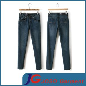 Low Rise Slim Fit Denim Jean for Women (JC1325) pictures & photos