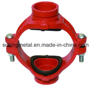 Ductile Iron 300psi NPT Threaded Grooved Mechanical Cross pictures & photos