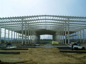 Low Cost Painted Steel Structure Workshop for Export pictures & photos