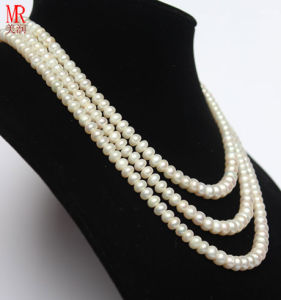 3 Strands Freshwater Pearl Neckace Jewelry pictures & photos