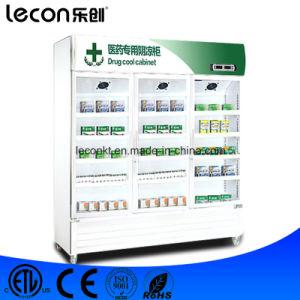 Triple Door Medical Display Cabinets Refrigerator