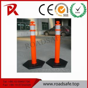 Traffic Warning 1100mm Sign PE Reflective Warning Post Delineator Post T-Top Bollard pictures & photos