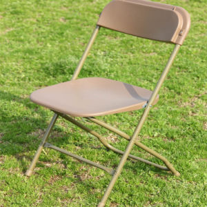 Beige Steel Frame Plastic Folding Chair for Party Mall pictures & photos