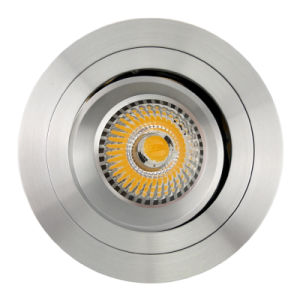Lathe Aluminum GU10 MR16 Round Recessed Tilt Down Light (LT2308B) pictures & photos