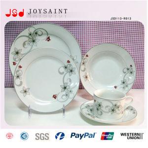 China Round Ceramic Dinner Plate Bulk Cheap White Porcelain Flat ...