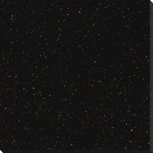2017 New Design Popular Selling Black Galaxy-Yellow DOT Polished Porcelain Tile