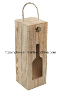 Single Wine Bottle Carrying Box Wine Box with Hasp Accessories