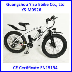 Aluminum Alloy Frame Beach Cruiser Electric Bike 4.0tire pictures & photos