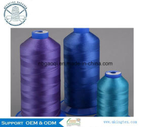 70d/3 Colorful Polyester Filament Sewing Thread for Leather Shoes Abrasion Resistance pictures & photos