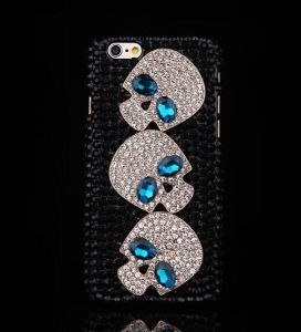 Skeleton Diamond Phone Case for Apple iPhone 5 5s 5c 6 6 Plus 7 7plus Back Cover pictures & photos