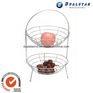 Double-Deck Fruit Basket for Kitchen