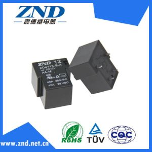 Zd4115 40A Contact Switch Power Relay for Household Appliances &Industrial Use Black Cover