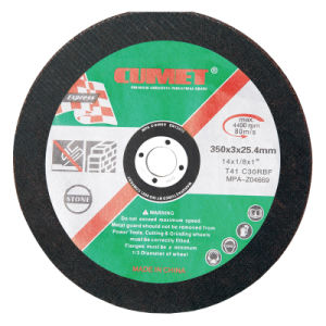 7′ (180X3.0X22.2) Depressed Cutting Wheel for Stone Abrasive with MPa Certificates pictures & photos
