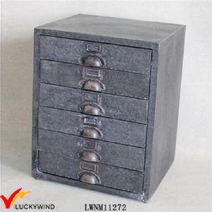 Vintage Small Metal Drawer Filing Cabinet