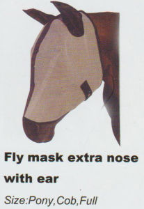 Horse Gear Fly Mask Extra Nose with Ear & Fly Mask Wtih Ear Net