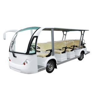 11+3seat Electric Sightseeing Bus with Hybrid Generator pictures & photos