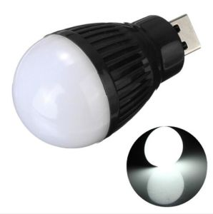 Portable Mini USB LED Bulb Emergency Light Lamp Torch Flashlight Attached Any Battery Pack Cellphone Charger pictures & photos