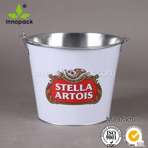 5 Qt Galvanized Metal Beer Bucket Beer Barrel with Metal Handle pictures & photos